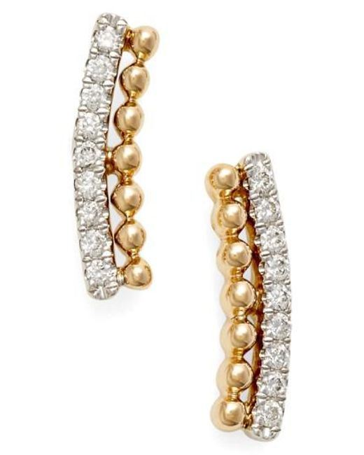 Dana Rebecca | Metallic 'poppy Rae' Diamond Ear Crawlers | Lyst