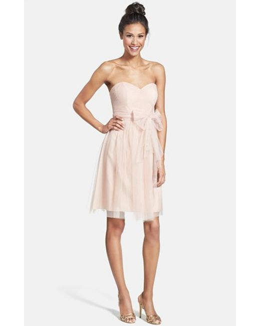 Jenny Yoo | Pink 'wren' Convertible Tulle Fit & Flare Dress | Lyst