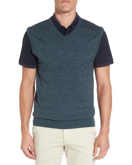 AG Jeans | Blue Valley V-neck Sweater Vest for Men | Lyst