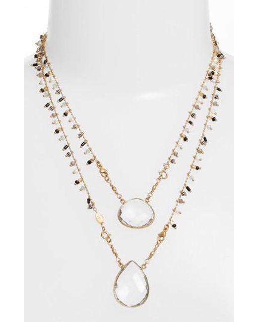 Gas Bijoux | Metallic Scapulaire Convertible Pendant Necklace | Lyst