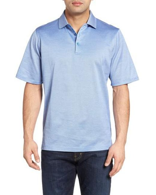 Bugatchi | Blue Mercerized Cotton Polo for Men | Lyst