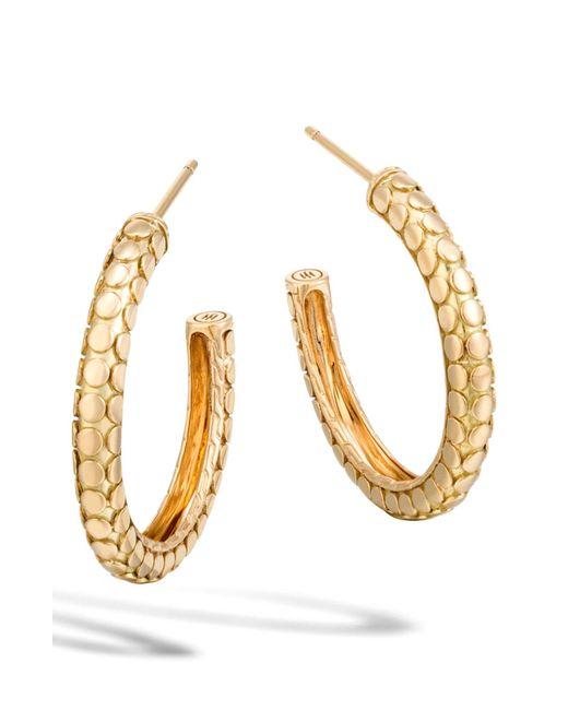 John Hardy - Metallic Dot Collection Hoop Earrings - Lyst