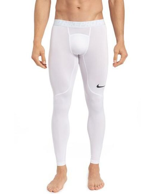 Nike | White Pro Athletic Tights for Men | Lyst