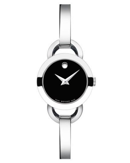 Movado | Metallic 'rondiro' Small Round Bangle Watch | Lyst