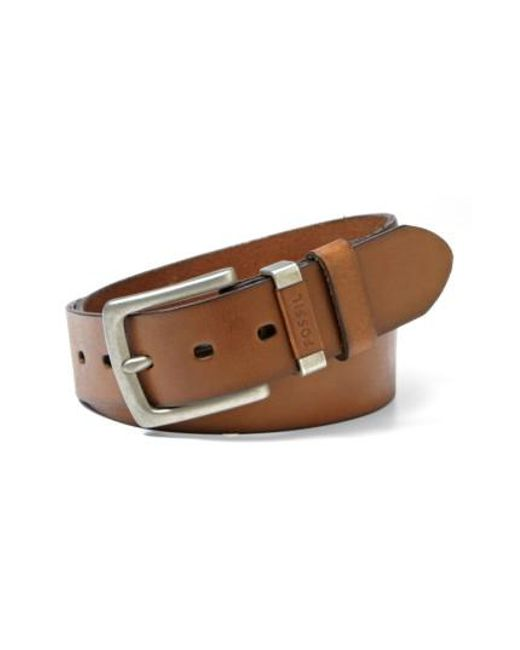 Fossil   Brown 'jay' Leather Belt for Men   Lyst