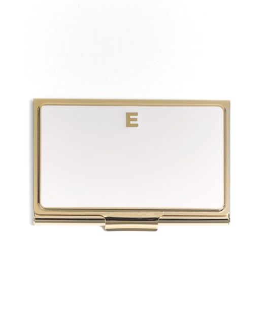 kate spade new york | Metallic 'one In A Million' Business Card Holder | Lyst