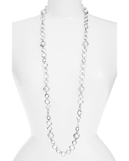 Karine Sultan - Multicolor Long Imitation Pearl Necklace - Lyst