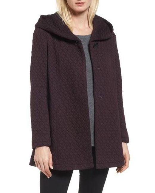 Gallery | Purple Cozy Knit Coat | Lyst