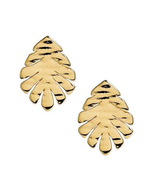 Kate Spade - Metallic A New Leaf Stud Earrings - Lyst