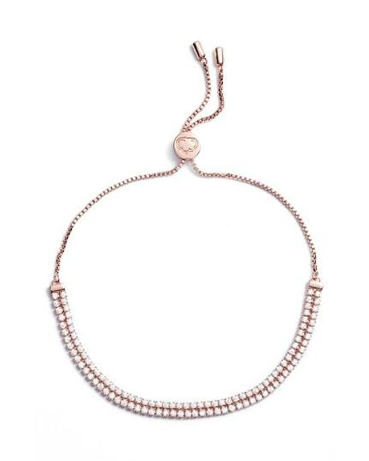 Estella Bartlett - Metallic Double Strand Bracelet - Lyst
