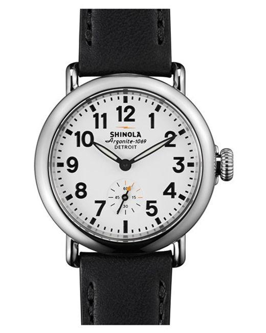 Shinola   Black 'the Runwell' Leather Strap Watch   Lyst