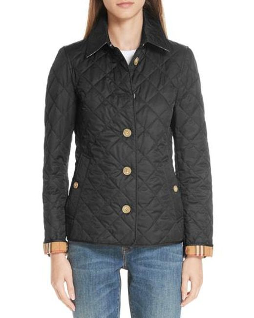 Burberry - Black Frankby 18 Quilted Jacket - Lyst