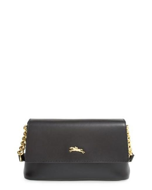 Longchamp | Black Honore Leather Cross-Body Bag | Lyst
