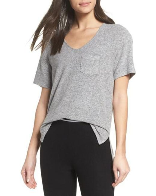 Make + Model - Gray Cozy V-neck Tee - Lyst