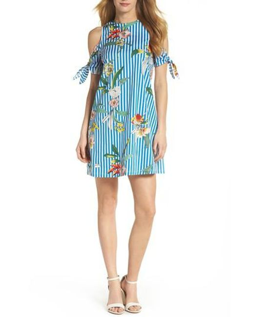 Julia Jordan - Blue Cold Shoulder Shift Dress - Lyst