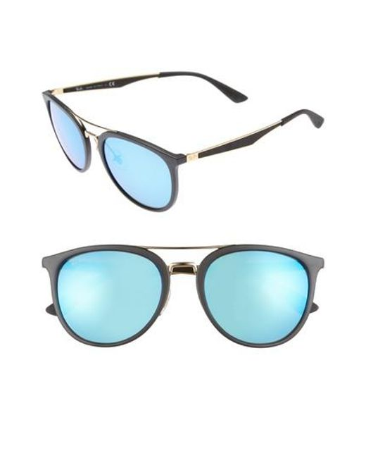 Ray-Ban | Blue 55mm Retro Sunglasses for Men | Lyst