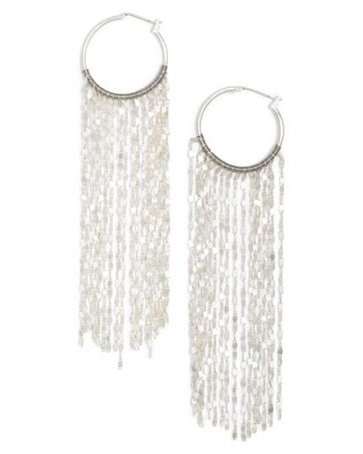 Serefina | Metallic Waterfall Hoop Earrings | Lyst