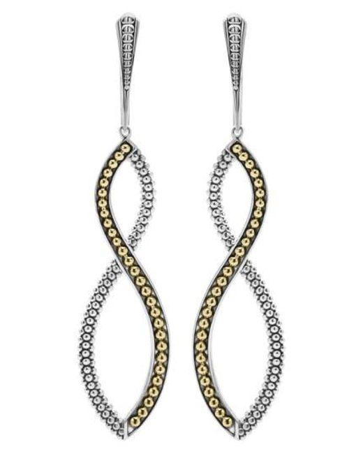 Lagos - Metallic Infinity Twist Drop Earrings - Lyst