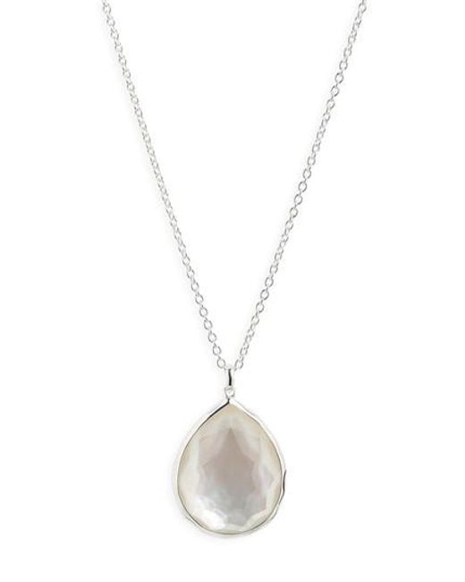 Ippolita - White 'wonderland' Large Teardrop Pendant Necklace (nordstrom Exclusive) - Lyst