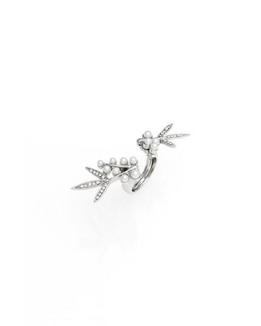 Oscar de la Renta | Metallic Imitation Pearl Ring | Lyst