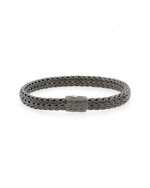 John Hardy Mens Rhodium-Plated Classic Chain Bracelet CNamrBn39Z