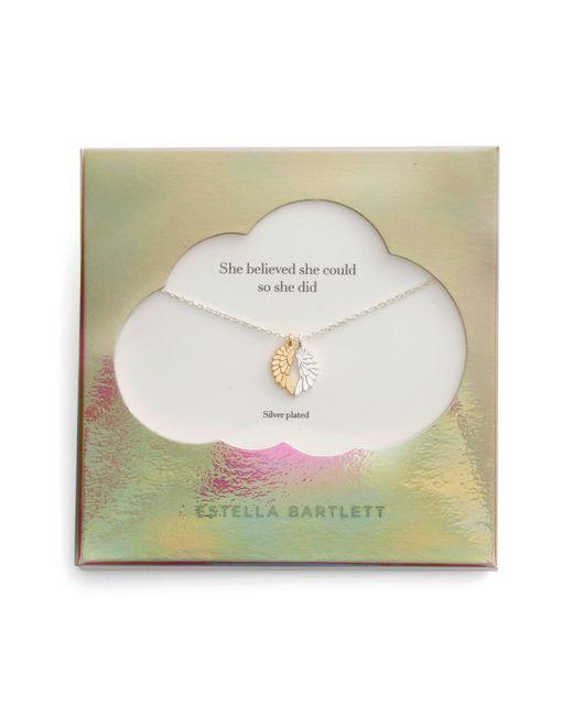 Estella Bartlett - Metallic She Believed She Could Wings Necklace - Lyst