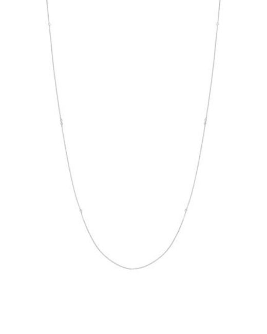 Bony Levy - Metallic Mila Long Strand Diamond Station Necklace (nordstrom Exclusive) - Lyst