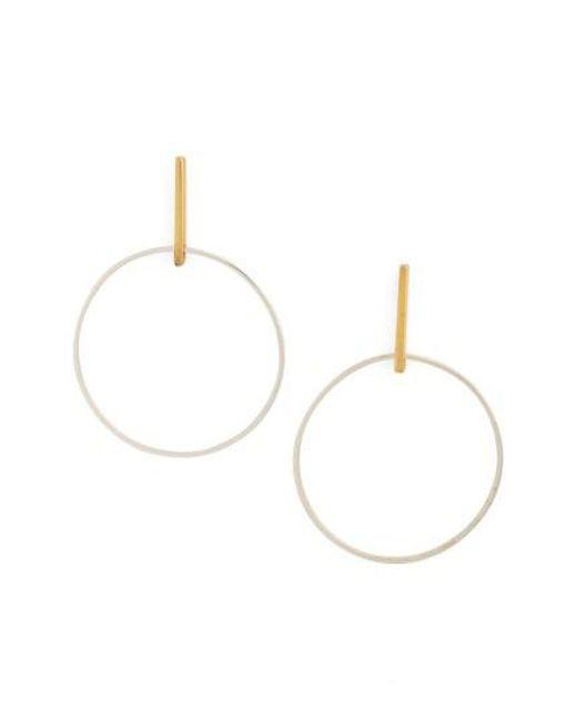 Argento Vivo - Metallic Front Hoop Earrings - Lyst