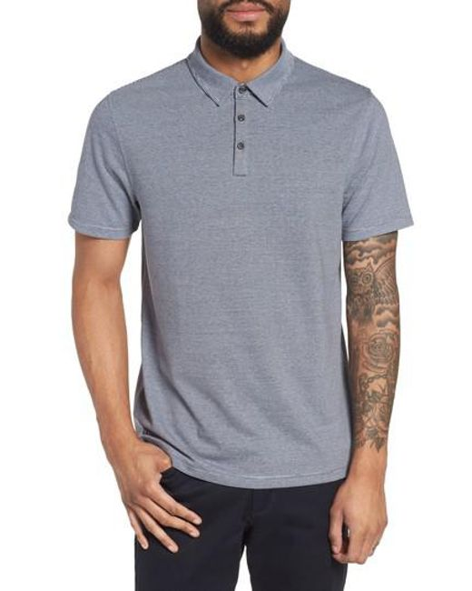 Calibrate - Blue Feeder Stripe Polo for Men - Lyst