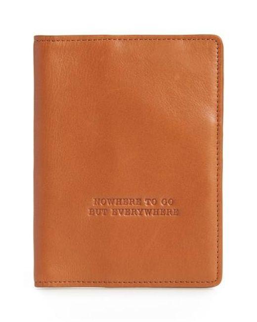 Hobo | Natural Quest Calfskin Leather Passport Wallet for Men | Lyst