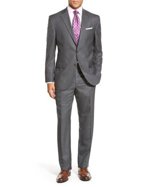 David Donahue - Gray Ryan Classic Fit Solid Wool Suit for Men - Lyst