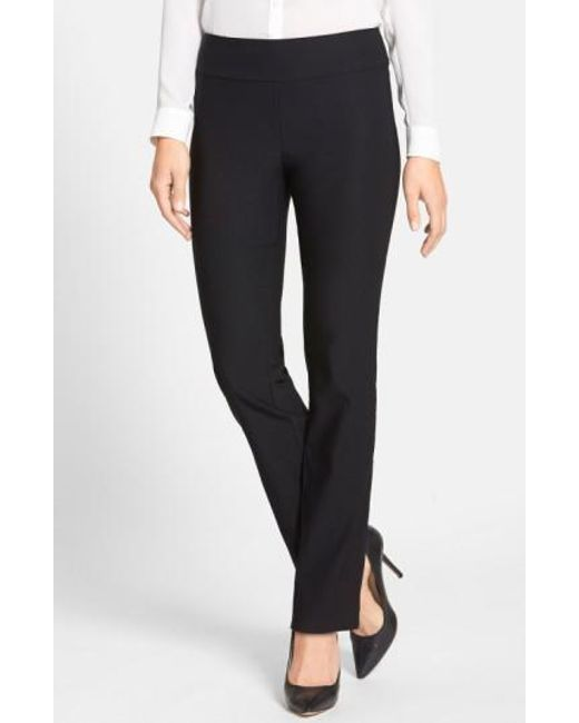 NIC+ZOE | Black 'the Wonder Stretch' Straight Leg Pants | Lyst