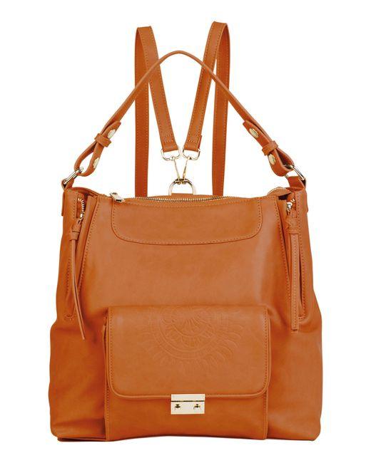 Urban Originals - Brown Wild Flower Vegan Leather Backpack - Lyst