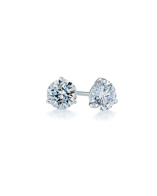 Kwiat - White 0.50ct Tw Diamond & Platinum Stud Earrings - Lyst