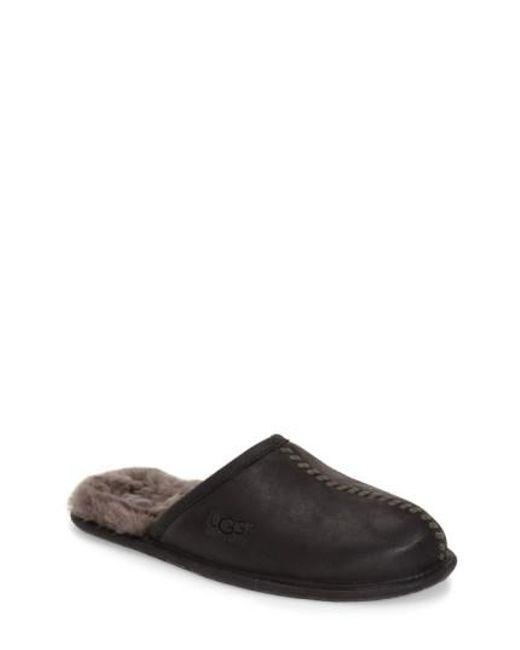 Ugg | Black Ugg Scuff - Deco Genuine Shearling Slipper for Men | Lyst