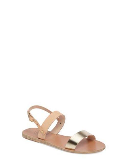Ancient Greek Sandals | Metallic Clio Slingback Sandal | Lyst