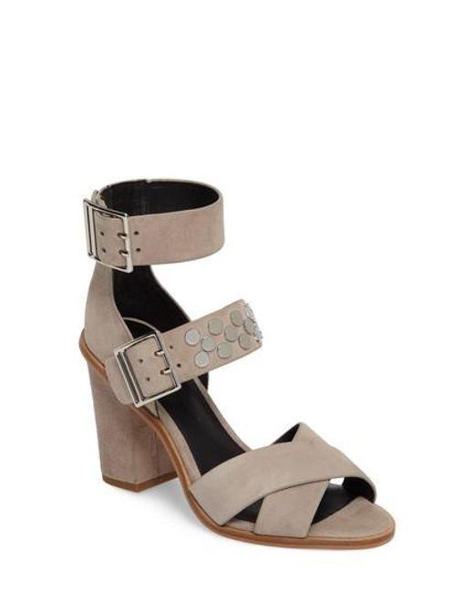 Rebecca Minkoff   Metallic Jennifer Studded Ankle Cuff Sandal   Lyst