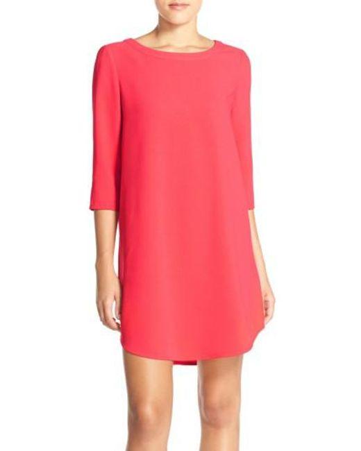 BB Dakota - Pink 'jazlyn' Crepe Shift Dress - Lyst
