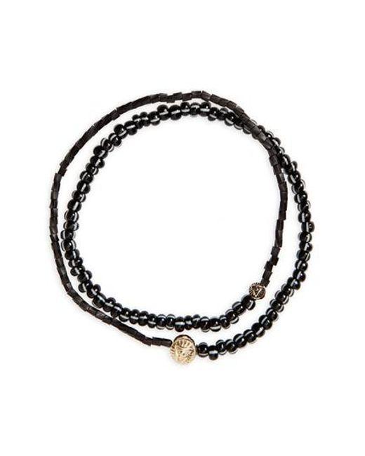 Luis Morais Beaded Wood And 14-karat Gold Necklace - Black JSaXJEn
