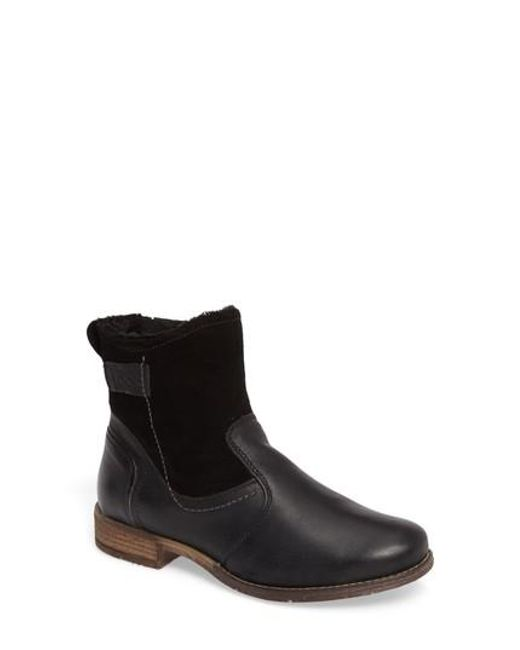 Josef Seibel | Black Sienna 55 Water Repellent Bootie | Lyst