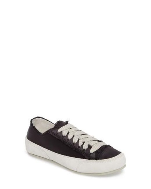 Pedro Garcia | Black 'parson' Satin Sneaker | Lyst