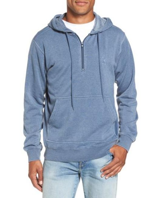 RVCA | Blue Sunwash Hoodie for Men | Lyst
