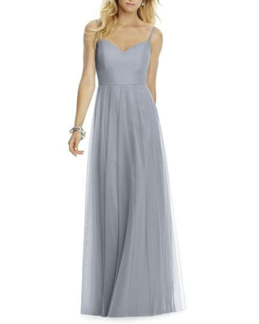 After Six | Gray Sleeveless Tulle A-line Gown | Lyst