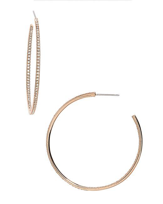 Nadri - Metallic Medium Inside Out Hoop Earrings (nordstrom Exclusive) - Lyst