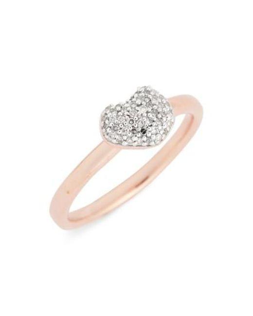 Monica Vinader | Metallic Nura Pave Diamond Ring | Lyst