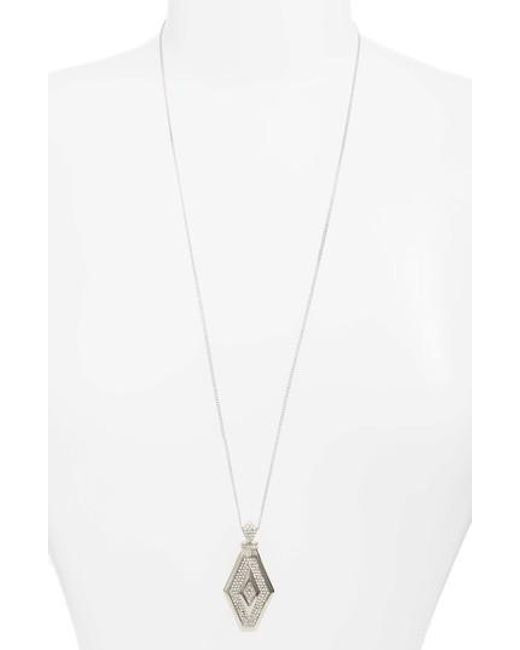 Vince Camuto   Metallic Pave Crystal Pendant Necklace   Lyst
