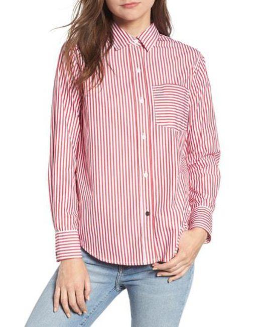 Current/Elliott Women's The Derby Stripe Shirt sX1TRY
