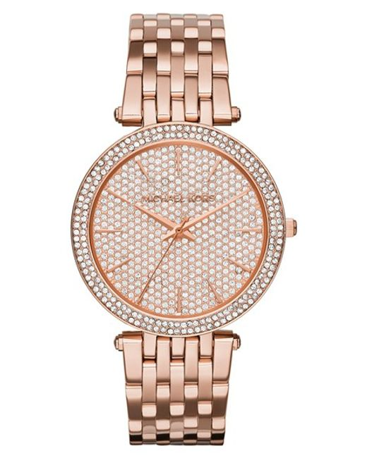 MICHAEL Michael Kors | Pink 'darci' Bracelet Watch | Lyst