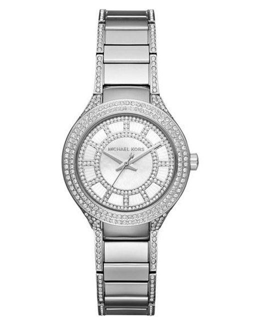 MICHAEL Michael Kors | Metallic Michael Kors 'mini Kerry' Bracelet Watch | Lyst