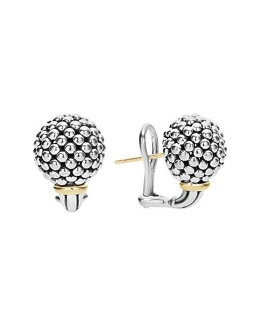 Lagos | Metallic 'caviar Forever' Stud Earrings | Lyst